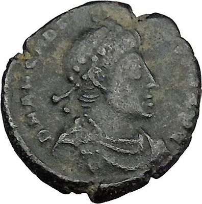 Arcadius crowned by Victory 395AD Rare Authentic Ancient Roman Coin  i37549