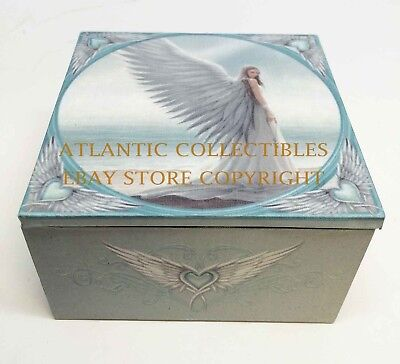 Anne Stokes Designer Spirit Guide Angel Heaven Small Jewelry Box With Mirror