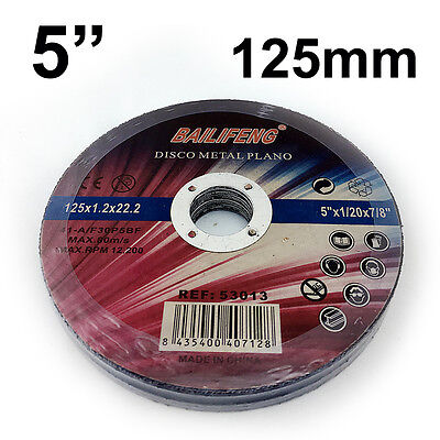 "10 PC 125mm 5"" CUTTING DISC WHEEL Thin 4 Angle Grinder Stainless Steel Metal Cut"