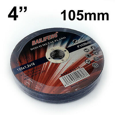 """10 PC 105mm 4"""" CUTTING DISC WHEEL Thin 4 Angle Grinder Stainless Steel Metal Cut"""