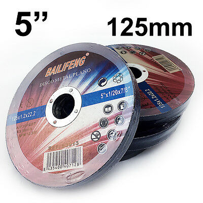 """100 x 125mm 5"""" CUTTING DISC WHEEL Thin 4 Angle Grinder Stainless Steel Metal Cut"""