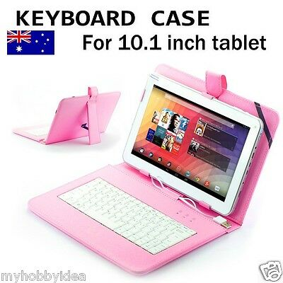 "10.1"" USB Keyboard Leather Case Stand Cover  Pad Aldi Bauhn Android Tablet"