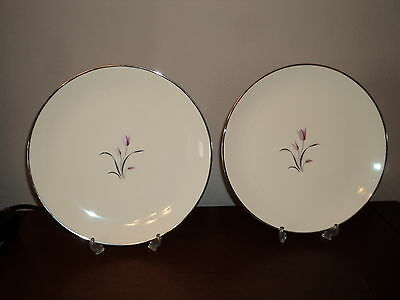 2 Beautiful Franciscan China Dinner plates in Carmel Pattern - discontinued