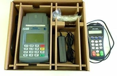 First Data FD-100 POS Credit Card Terminal Complete Systems Debit Card Pin Pad+