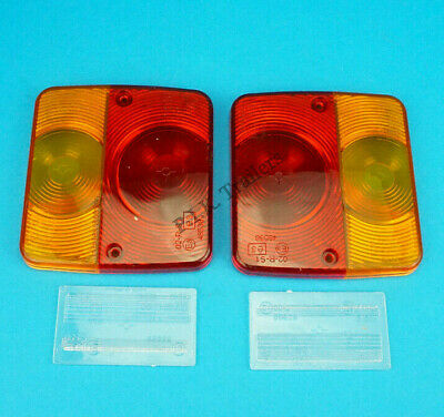 2 x Radex Replacement LENS for 4 Function Small Rear Trailer Lamp Light 3.001.00