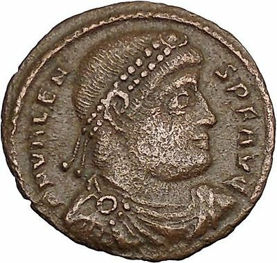 "VALENS ""Last True Roman"" w labarum 364AD Ancient Roman Coin Christ monog  i37593"