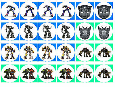Transformers Cupcake Edible Icing Party Cake Topper Decoration Image Custom