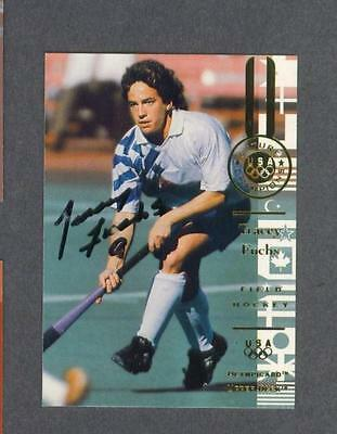 Tracey Fuchs signed 1996 Upper Deck Olympic trading card