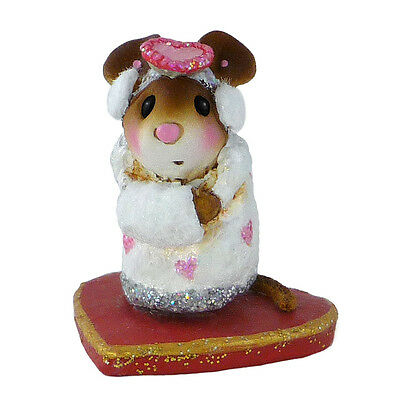 LITTLE MISSY VALENTINE by Wee Forest Folk,  WFF# M-476, WHITE mouse