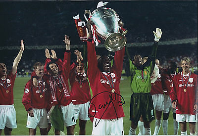 Dwight YORKE SIGNED Autograph 12x8 Photo AFTAL COA Man Utd Champions League