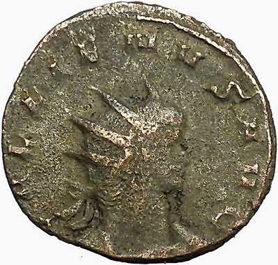 GALLIENUS son of Valerian I 260AD Ancient Roman Coin PAX PEACE Cult  i34816