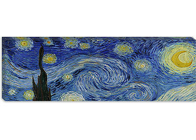 The Starry Night Vincent van Gogh Canvas Print Painting Reproduction