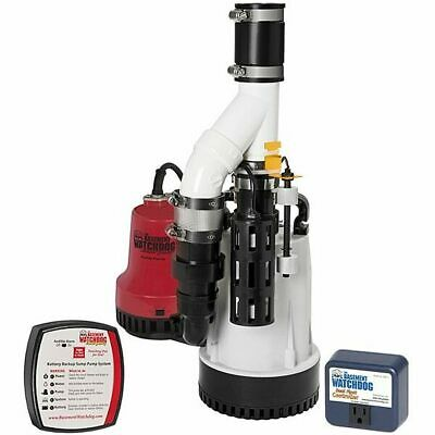 Basement Watchdog DFK-961 - 1/3 HP Combination Primary and Backup Sump Pump S...