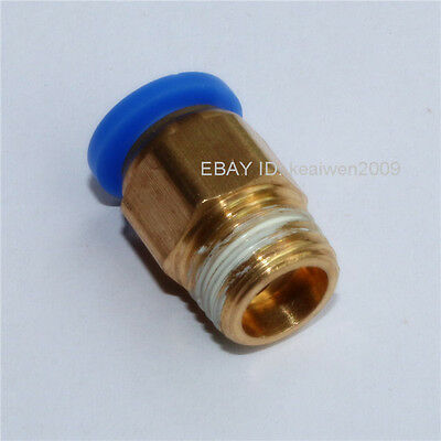 5PCS MALE STUD PNEUMATIC STRAIGHT CONNECTOR PUSH IN FITTINGS TUBE 4mm-16mm AIR
