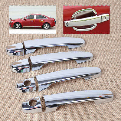 Triple Chrome Door Handle Cover Trim w/smart key for Toyota Camry RAV4 Yaris