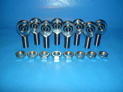 4-LINK 5//16-24 THREAD x 5//16 BORE JAM NUTS /& CONE SPACERS ROD END HEIM JOINT