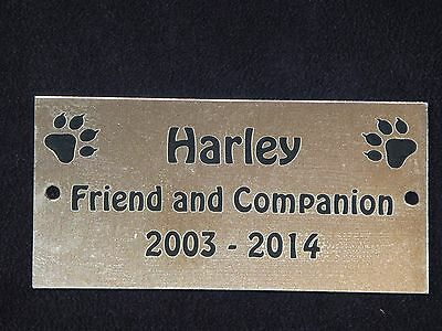 Personalised Pet Memorial Plaque with Cat Prints - Various Colours