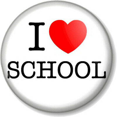 25mm Pin Button Badge School Reunion Geeks Heart Geography 1 Inch I Love