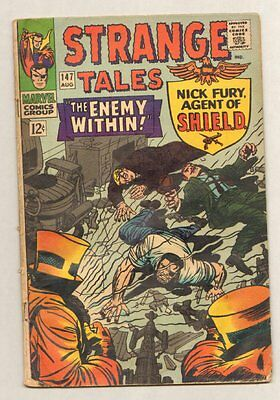 Strange Tales #147 - Nick Fury Agent of SHIELD - The Enemy Within - 1966 (G+) WH