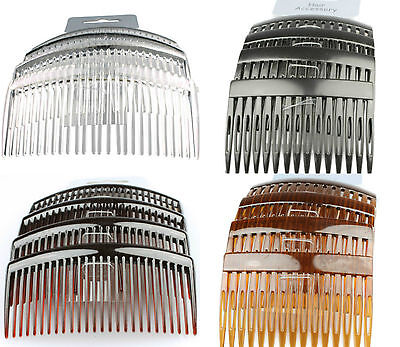 Hair Combs Hair Slides 4 Pack Of Black Clear Tort Hair Comb Plastic