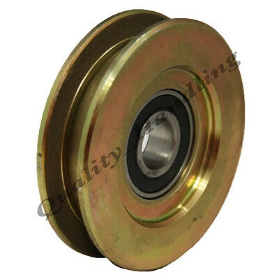 Gate wheel pulley wheel 80mm Square groove steel wheel ball bearing flat groove