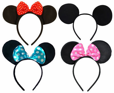 Mouse Ears Headband - Choose From 4 Designs - Dress Mickey Minnie