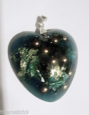 Orgone Energy Generator Pendant Life Force Energy Orgonite Necklace Green Heart