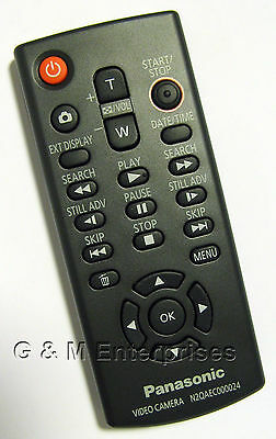 New Panasonic N2QAEC000024 Wireless Remote for Many 2008-12 Camcorders US Seller