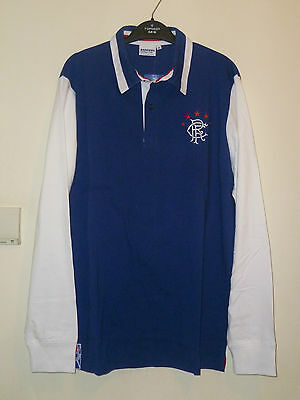 Bnwt Rangers Home Long Sleeved Retro Rugby Shirt