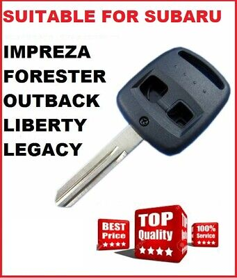 Subaru Remote Key blank  2 Button Shell to Suit Outback Legacy & Forester