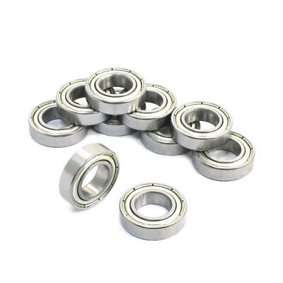 10 Pcs 6800Z 10 x 19 x 5mm Single Row Shielded Deep Groove Ball Bearings