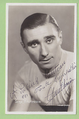 Serge GAUTHERIN, Autographe manuscrit, dédicace, cyclisme. Photo Intran Studio