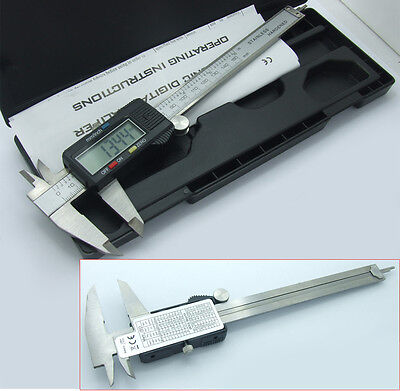 "15CM 6"" Electronic Digital Vernier Calipers LCD Steel Measuring Micrometers tool"