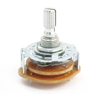 Electronic Machine 2P2T 2Pole 2 Position 2 Deck 6 Pin Rotary Switch
