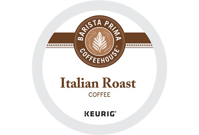 Barista Prima Coffeehouse, Italian Roast Coffee, Dark, Keurig K-Cups, 96-Count
