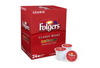 Folgers, Classic Roast, Medium Roast Coffee, Keurig K-Cups, 96-Count