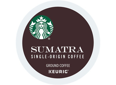 Starbucks, Sumatra Coffee, Dark Roast, Keurig K-Cups, 96-Count