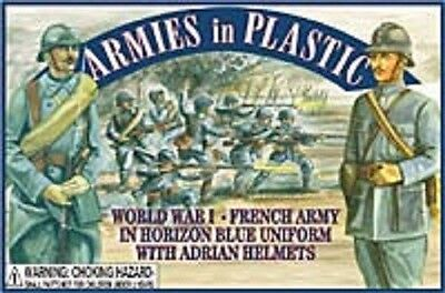 ARMIES IN PLASTIC 1/32 WWI French Army (Blue) (20)   ARM5403