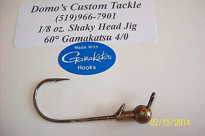 10 Pack 1//4 Oz Football Shaky Head Jig Clear Coated Red With 4//0 Mustad Hook