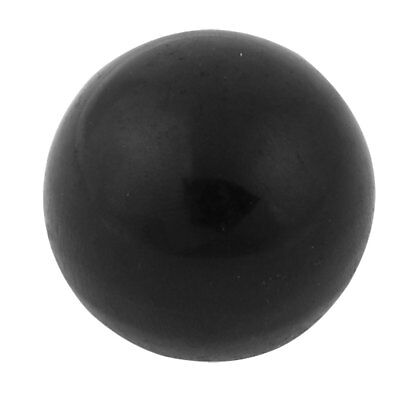 Black Plastic 9mm Thread Diameter Round Ball Handle Knob
