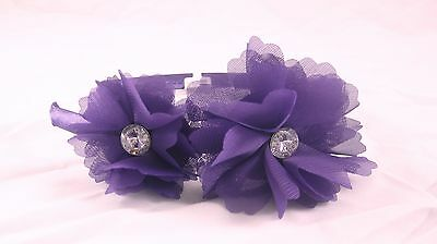 12 New Wholesale Purple Flower Headbands with Rhinestones NWT #H2034