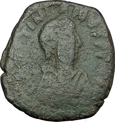 Justinian I 527AD Very big  Ancient Authentic  Medieval Byzantine Coin  i37994