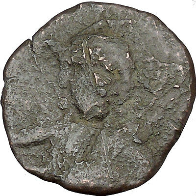 JESUS CHRIST Class E Anonymous Ancient 1059AD Byzantine Follis Coin  i38004