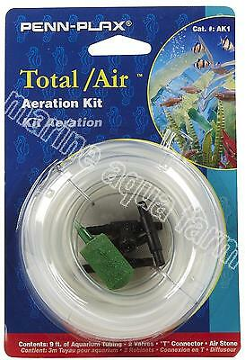Penn Plax Aeration Kit, Connector, Tap, Pump, Air Line, Valve, Silicone, Stone