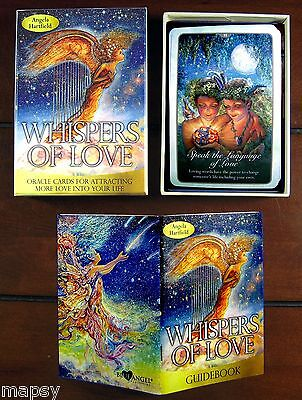 NEW Whispers of Love Oracle Cards Tarot Angela Hartfield Josephine Wall psychic