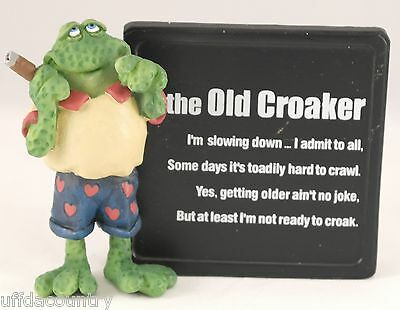 Russ Berrie Over The Hill Old Croaker Plaque Discontinued-Limited Quantities
