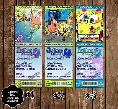 Spongebob Squarepants Birthday Party Invitation - 20 Pack