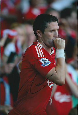 Robbie KEANE SIGNED COA Autograph 12x8 Photo AFTAL Liverpool ROI LA Galaxy