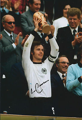Franz BECKENBAUER Signed Autograph 12x8 Photo AFTAL COA Germany World Cup WINNER