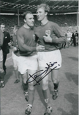 Jack CHARLTON SIGNED COA Autograph 12x8 Photo AFTAL 1966 England World Cup WIN